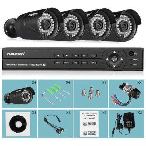 19% off FLOUREON 1 X 8CH 1080P 1080N AHD DVR + 4 X Outdoor 3000TVL 1080P 2.0MP Camera Security Kit AU Gearbest Coupon Promo Code