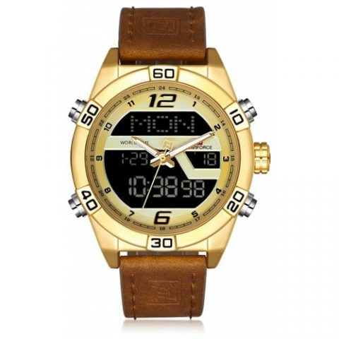 47% off NAVIFORCE Luxury Brand Men Fashion Sports WristWatches – GOLD Gearbest Coupon [Brazil-Potugal]