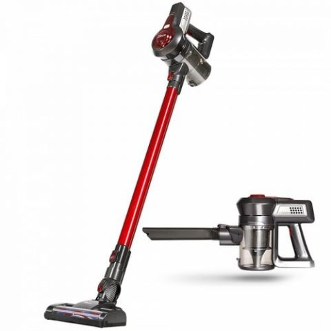 38% off Dibea T6 Wireless Vacuum Cleaner 2 Rotary Cleaning Head 1 Rolling Brush – RED Gearbest Coupon [Czech Warehouse]