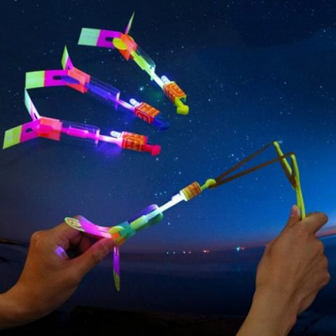 51% off LED Light Helicopter Flying Toy Elastic Powered Sling Shot – MULTI-A BLUE LIGHT ARROW Gearbest Coupon [Israel-Arabic]